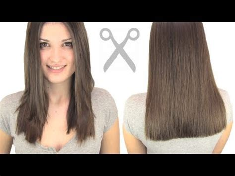 how to cut your hair straight across the back how to cut hair straight youtube