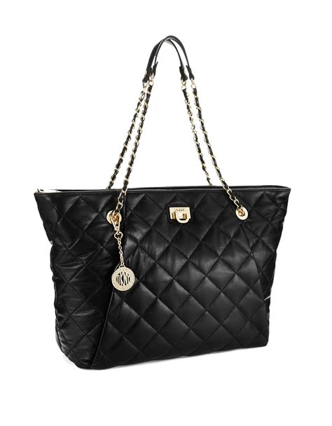 Dkny Quilted by Dkny Gansevoort Quilted Shoulder Bag In Black Lyst