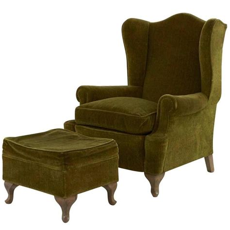 wing chair ottoman vintage wing chair and ottoman for sale at 1stdibs