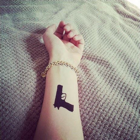 Simple Tattoo Gun Designs | gun tattoos and designs page 76