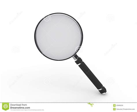 3d Magnifying Glass 3d glass magnifying lens royalty free stock image image