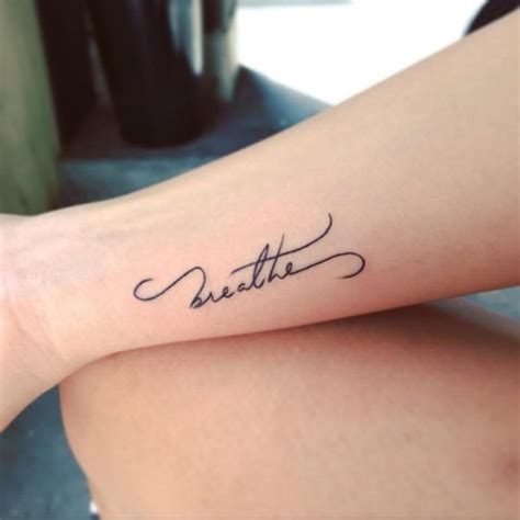 tattoo designs lettering ideas breathe letter on wrist tattoos
