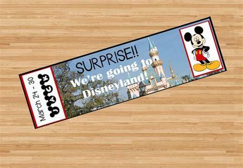 printable fake disneyland tickets disney trips and christmas morning on pinterest