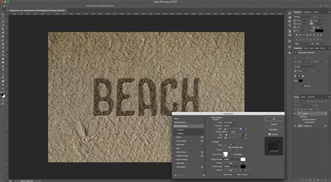 sand typography photoshop tutorial text on sand in photoshop design bundles