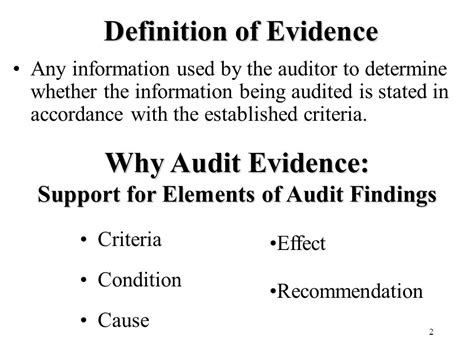 theme evidence definition state of the art audit evidence ppt video online download
