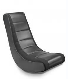 Black Mesh Stripe Video Rocker Gaming Chair