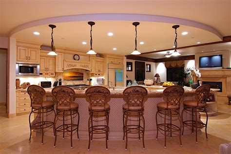 kitchen with island layout tips to consider when selecting a kitchen island design