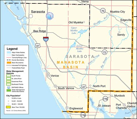 sarasota map unincorporated communities in sarasota county florida