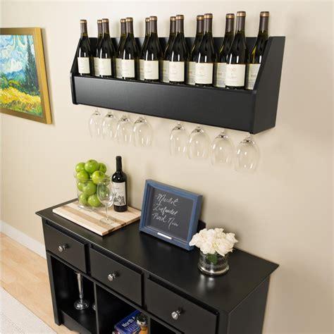 Floating Wine Shelf by Floating Wine Rack In Black Prepac Bsow 0200 1