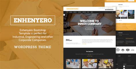 themeforest industrial theme enhenyero engineering industrial wordpress theme by