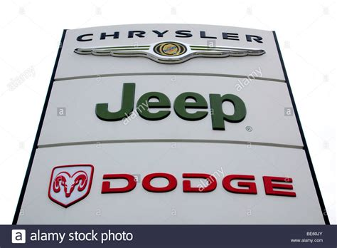 dodge jeep logo logo of the car brand dodge jeep chrysler on a sign at