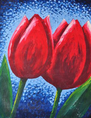 Lukisan Kaligrafi Bunga Merah Abstrak bunga lukisan souvenir jogja
