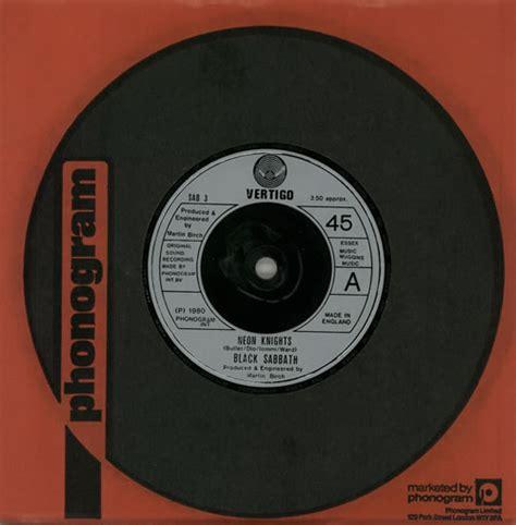 black sabbath neon knights1980 black sabbath neon knights uk 7 quot vinyl single 7 inch