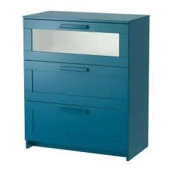 brimnes commode 3 tiroirs vert bleu fonc 233 verre givr 233