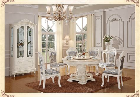 Dining Room Sets With Colored Chairs Aliexpress Buy Luxury Wooden Ding Table And Chair White Color Dining Sets Classical