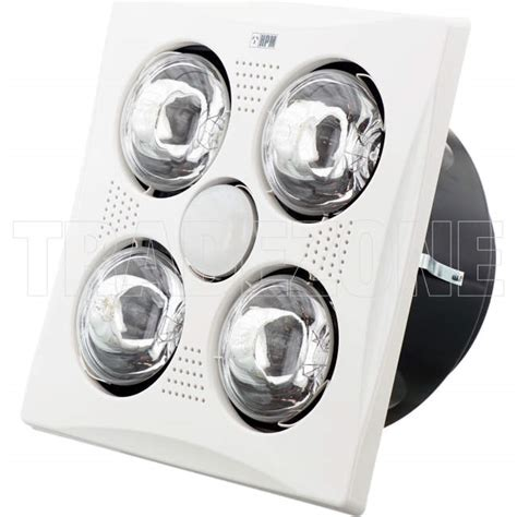 hpm bathroom heater fan light hpm 3 in 1 bathroom heat l light exhaust fan white