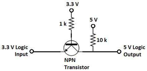 npn transistor level shifter forcetronics voltage level shifting tutorial