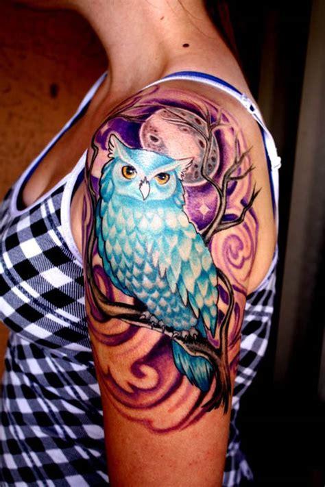 blue owl tattoo design tatuajes de b 250 hos significado e ideas originales