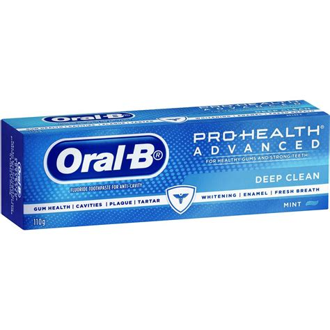 B Pro Health Toothpaste Freshmint 145gr b pro health fluoride toothpaste advanced clean mint 110g woolworths