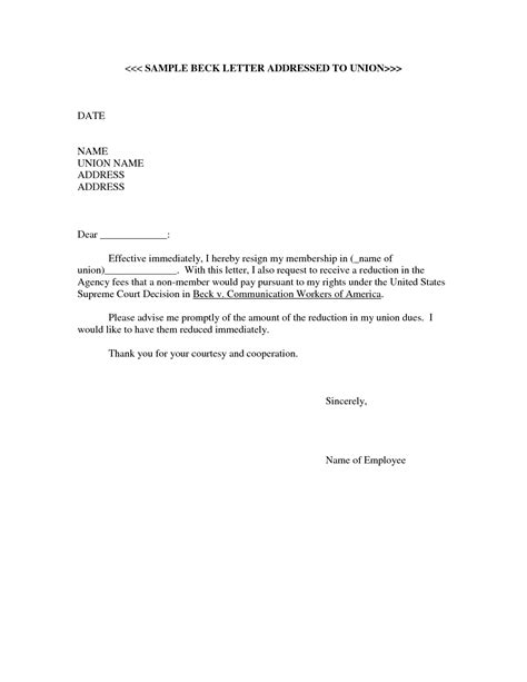 Immediate Resignation Letter Sle Pdf Model Of Resignation Letter Choice Image Letter Format Exles