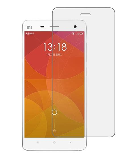 Tempered Glass Xiaomi Mi 4 devinez tempered glass for xiaomi mi 4 pack of 2 buy