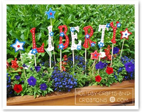 garden crafts patriot pearls in my treasure box patriotic yard signs