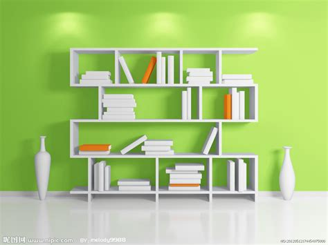 modern home design vector 时尚书架设计图 3d设计 3d设计 设计图库 昵图网nipic com