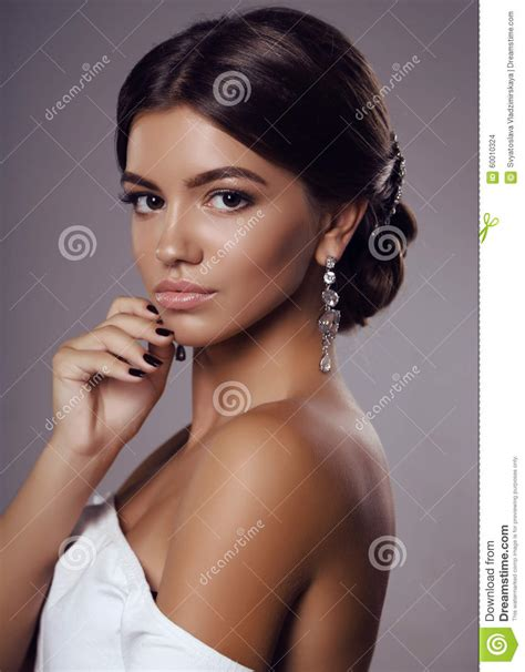 dark haired beautiful women modeling clothes beautiful young tanned girl with dark hair with bijou