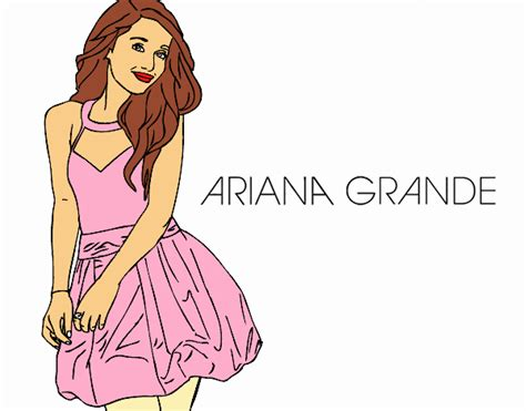 colored page ariana grande painted by user not registered