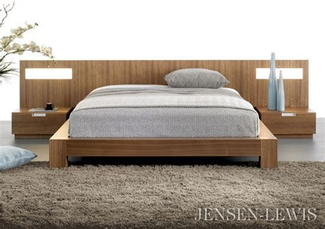 Flat Platform Bed Stella Flat Panel Bed With Lighted Nightstands
