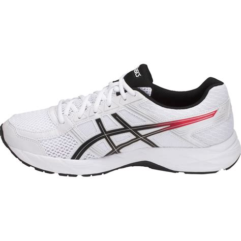 asics gel contend 4 mens running shoes white classic black sportitude