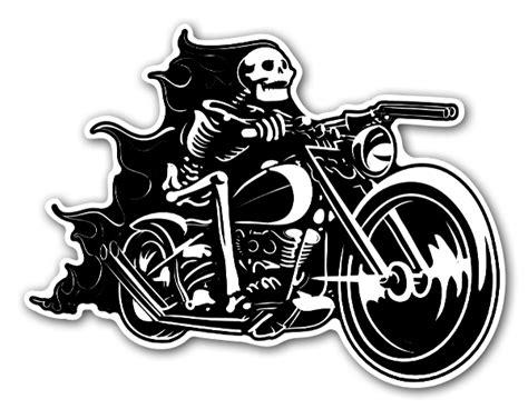 Fahrrad Aufkleber Totenkopf by Stickerapp