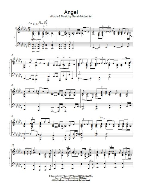 angle song angel sheet music direct