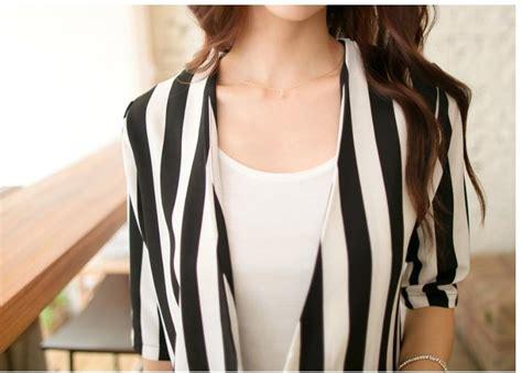 Dress Korea Dress Garis Garis Dress Hitam blazer wanita korea garis garis hitam putih terbaru