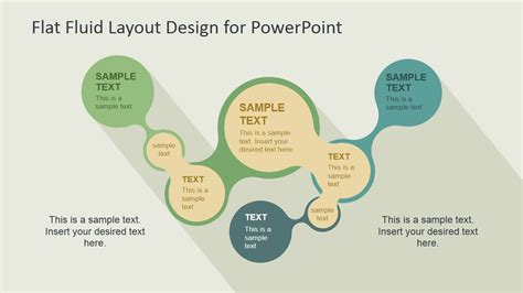 flat layout design flat fluid layout design for powerpoint slidemodel