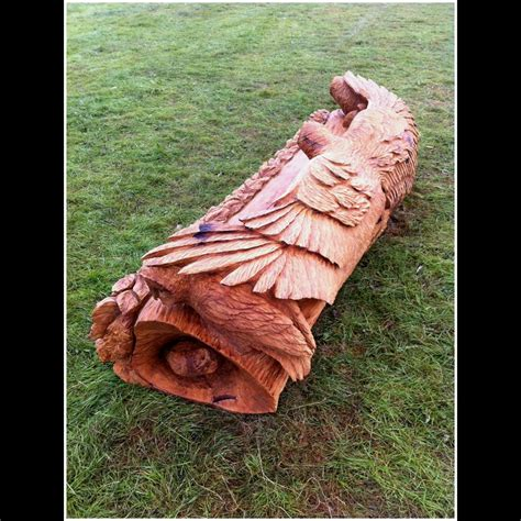 Chainsaw Carved Bench Chainsaw Carving Oak Owl Bench