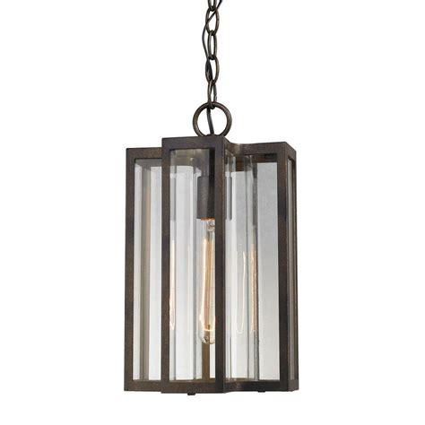 Outdoor Pendant Lighting Home Depot Glomar 1 Light Outdoor Bronze Incandescent Pendant Light Hd 992 The Home Depot