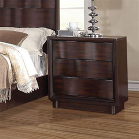 acme furniture bedroom set in walnut finish ac01720aset dreamfurniture com travell walnut finish nightstand