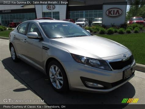 Kia Optima Satin Metal Satin Metal Metallic 2013 Kia Optima Ex Beige Interior