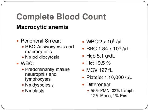 peripheral blood smear report sle refractory anemia report mds