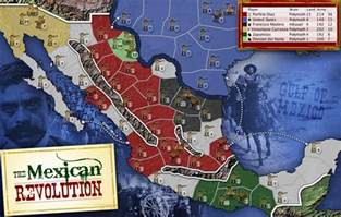 map of the revolution mexican revolution map