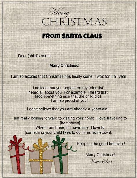 letters santa