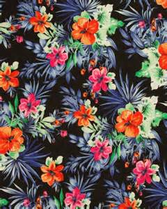 Tropical Fabric Prints For Upholstery by Cotton Lawn Fabric Tropical Print On Black Patterns