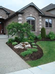Landscape Ideas Using Boulders Simple Planting With Moss Rock Boulders Landscaping