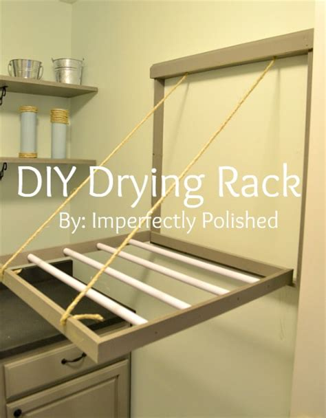 hometalk diy drying rack tutorial