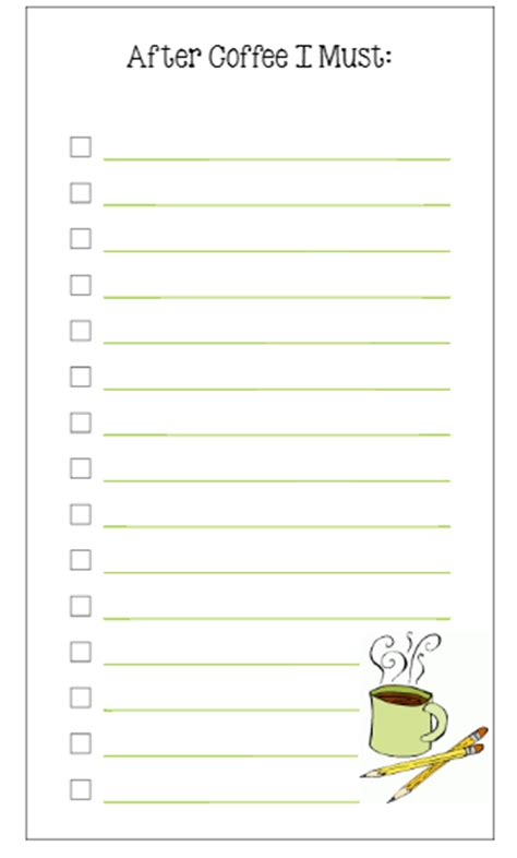printable secretary to do list personal size to do list coffee printable planner fun