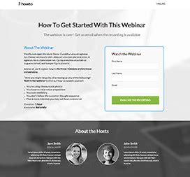 Webinar Landing Page Templates By Unbounce Webinar Landing Page Template