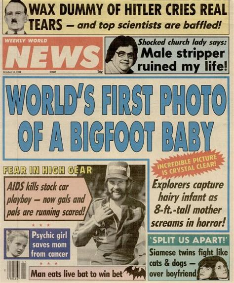 Bigfoot In The Tabloids J 17