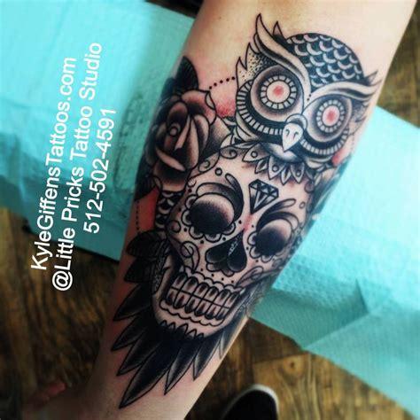 tattoo tribal masculina no braço sugar skull owl tattoo skullspiration com skull
