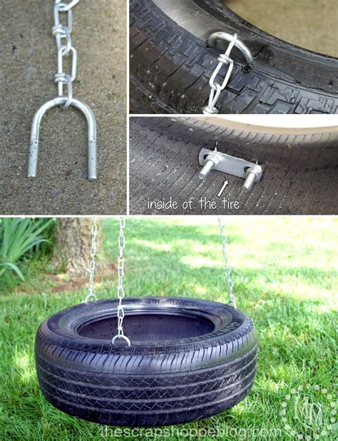 how to make tire swing how to make a tire swing the scrap shoppe